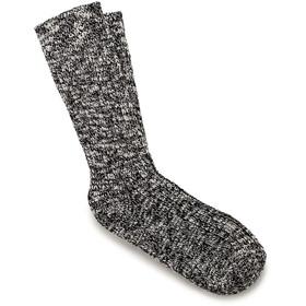 Birkenstock Cotton Slub Socks Dame Black Gray